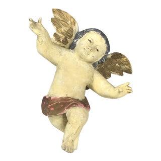 Handcarved Wood Hanging Angel