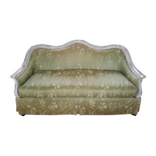 Highland House Celadon Damask Settee
