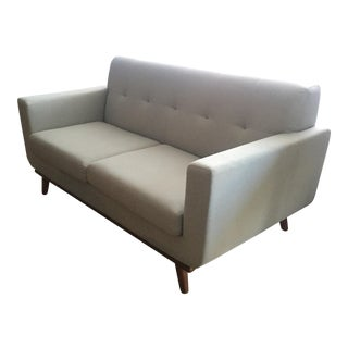 Mid-Century Blue Gray Loveseat
