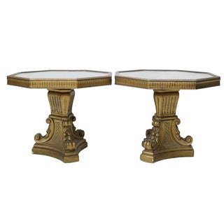 Eglomise Regency Side Tables - Pair
