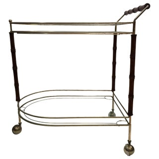 Two-Tier Faux-Bamboo Bar Cart