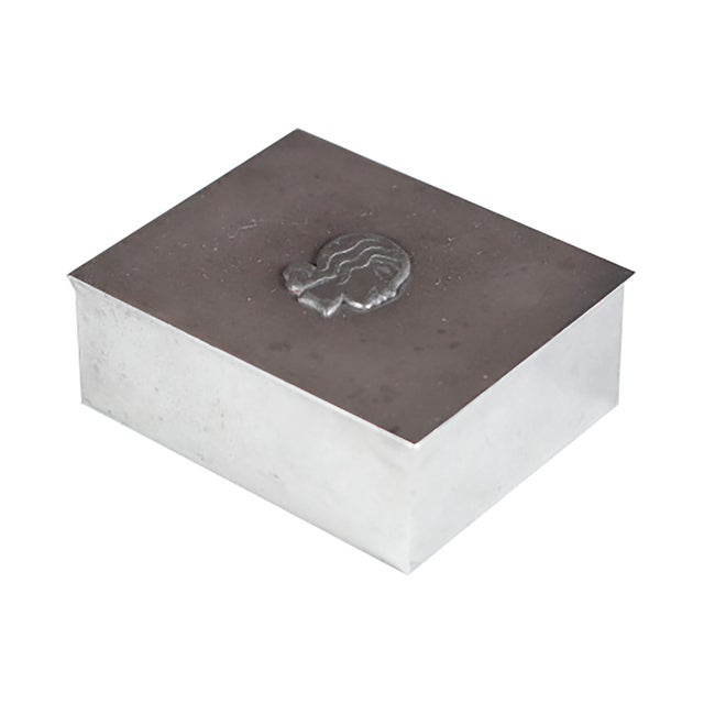 Midcentury Danish High Relief Pewter Box - Image 1 of 4