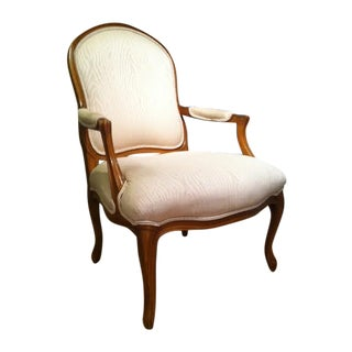 Vintage Henredon Bergere Fauteuil Chairs - Pair
