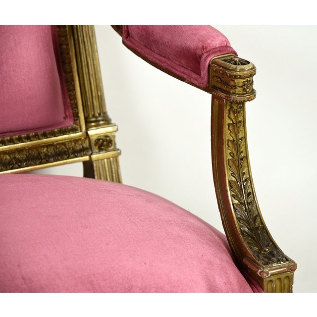 French 19th Century Louis XVI Giltwood Settee - Image 6 of 10