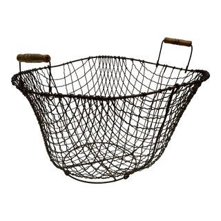 Hand Crafted Heart Shaped Wire Basket