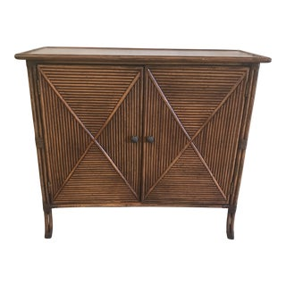 Tommy Bahama Coral Reef Collection Bamboo Reed Cabinet Credenza
