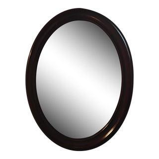 Bombay Co. Oval Cherry Wood Mirror
