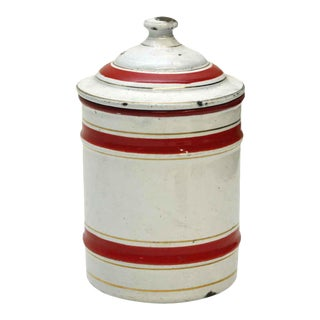 Small Red & White Chicoree Kitchen Jar
