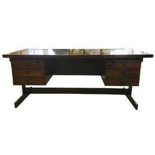 Vintage Brazilian Rosewood Executive Desk