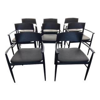 "Porro Italian ""Neve"" Chairs Designed by Piero Lissoni - Set of 8"