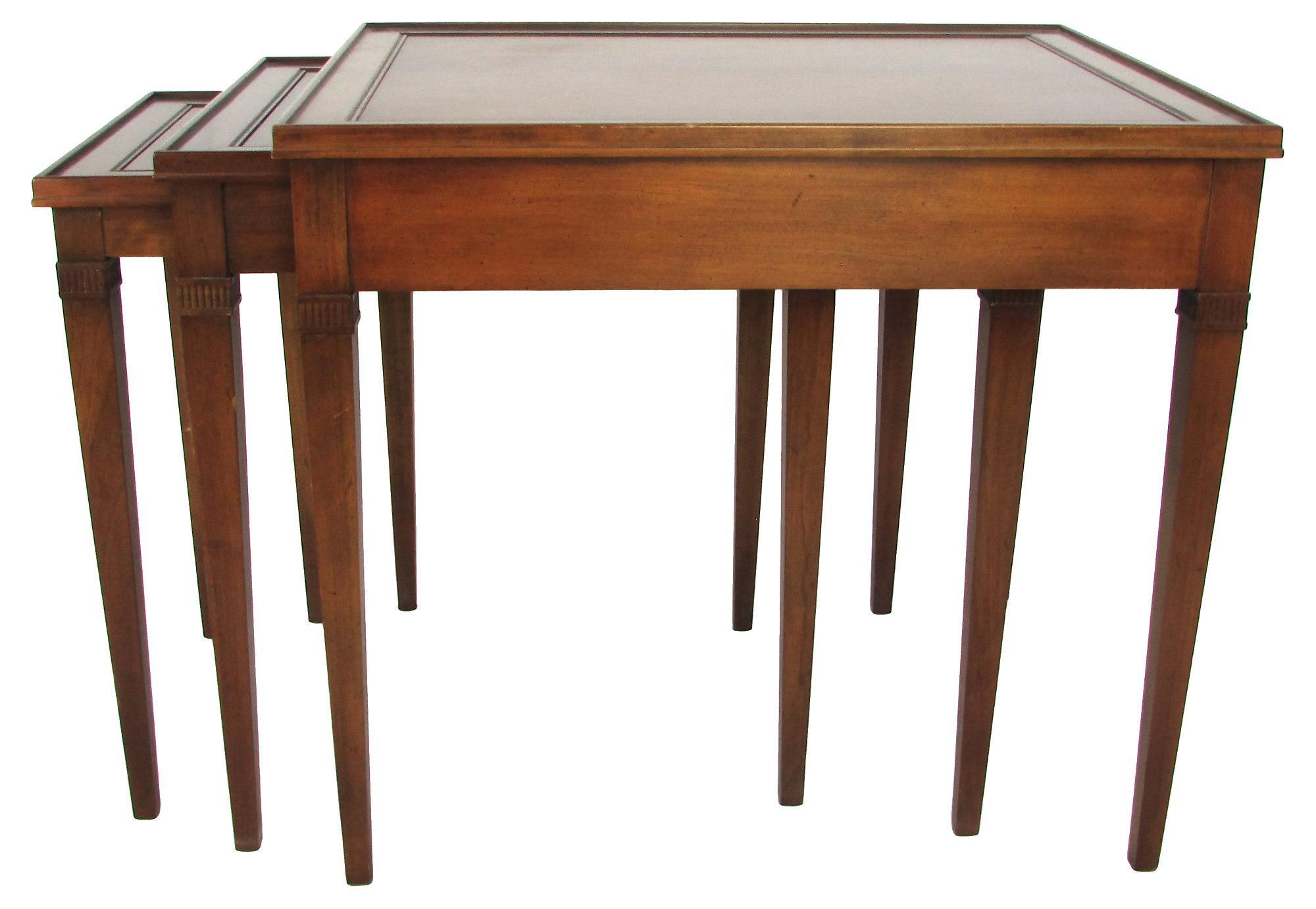 Wonderful Image Of Regency Style Mahogany Nesting Tables   Set Of 3