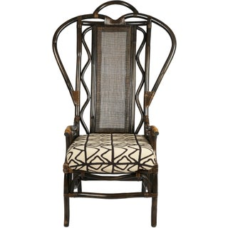 1950's High Back Bent Wood Chair