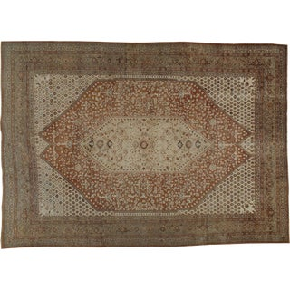 "Antique Persian Tabriz Rug - 9'8"" X 13'8"""