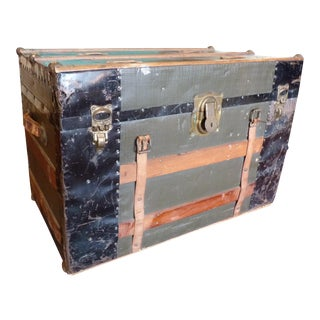 Classic Vintage Trunk with Leather Straps