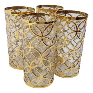 Imperial Glass 24KT Gold Glassware - Set of 4