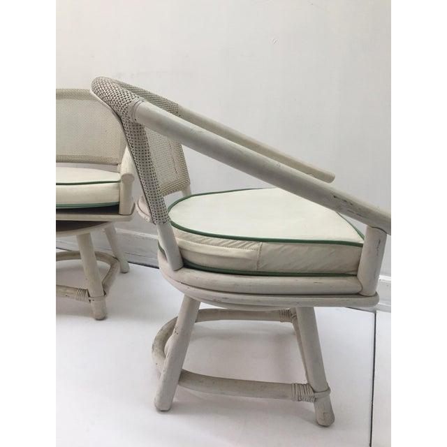 Image of Ficks Reed Swivel Chairs & Original Cushions - 4