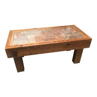 Brick Tile Coffee Table