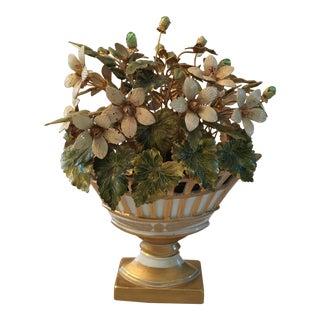 Jane Hutcheson for Gorham Enamel & Porcelain Flower Arrangement