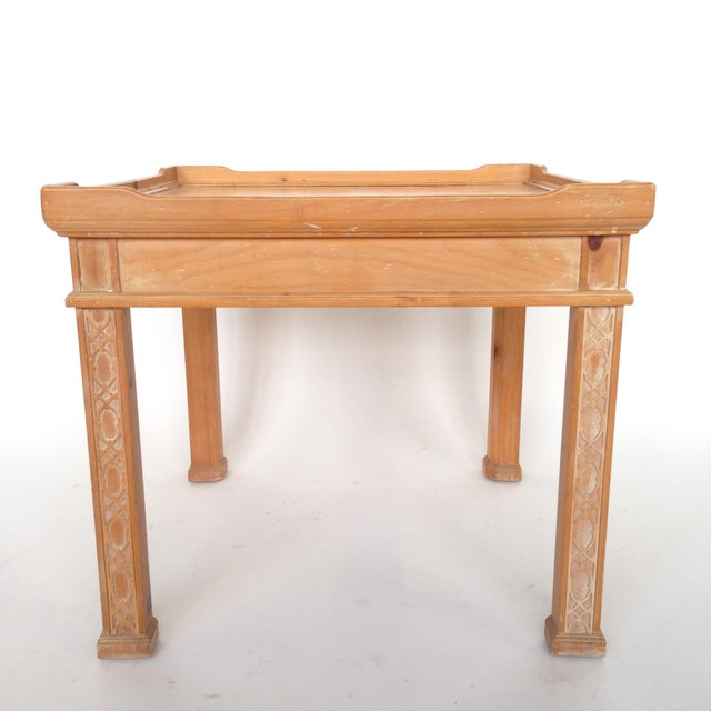 Century Furniture Knotty Pine Side Table Chairish