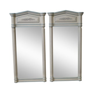 Vintage French Louis XV Style Wall Mirrors - A Pair