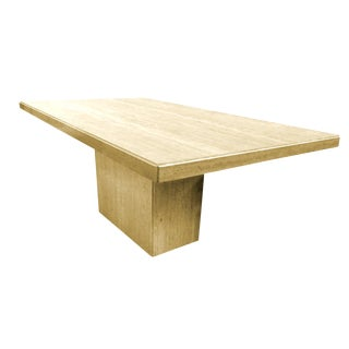 Modern Travertine Dining Table