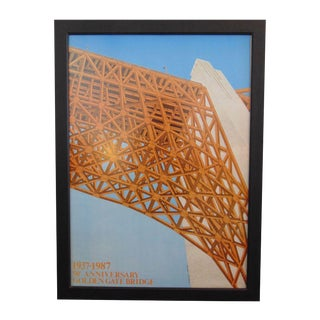 50th Anniversary Golden Gate Bridge Framed Poster