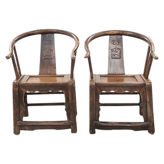 Asian Yolk Chairs - A Pair