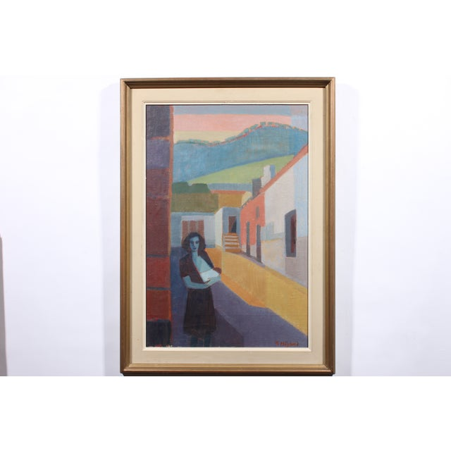 """Hoglund 1951 """"Pa Street Alicante Spain"""" Painting - Image 2 of 4"""