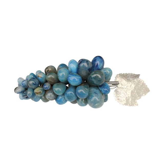 Blue Agate Stone Grapes - Image 1 of 5
