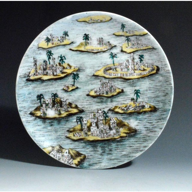 Piero Fornasetti Citta DI Carte City of Cards Plates in Complete Set of Twelve - Image 7 of 10