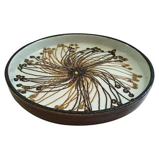 Danish Abstract Flower Dish