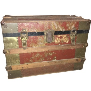 1800s Mottled Steamer Trunk