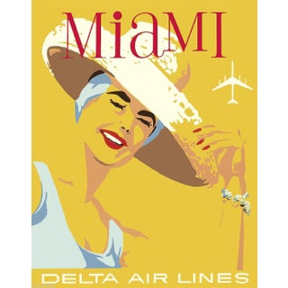 Vintage Reproduction Miami Travel Poster