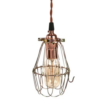 Industrial Brass Cage Light