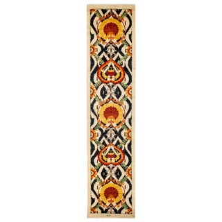 "Suzani Hand Knotted Runner - 3'0"" X 13'1"""