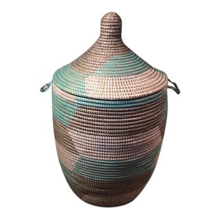 Hand Woven Moroccan Lidded Basket