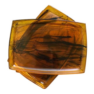 Acrylic Tortoiseshell Appetizer Plates - Set of 5