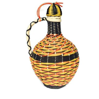 Mid-Century Woven Spanish Glass Decanter