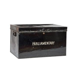C 1900 English Tin Deed Lock Box
