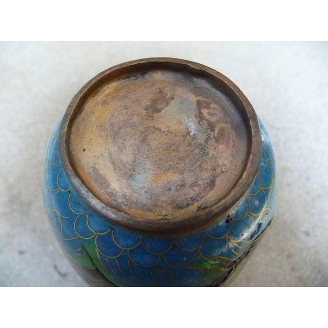 Black Dragon Cloisonne Vase - Image 4 of 4