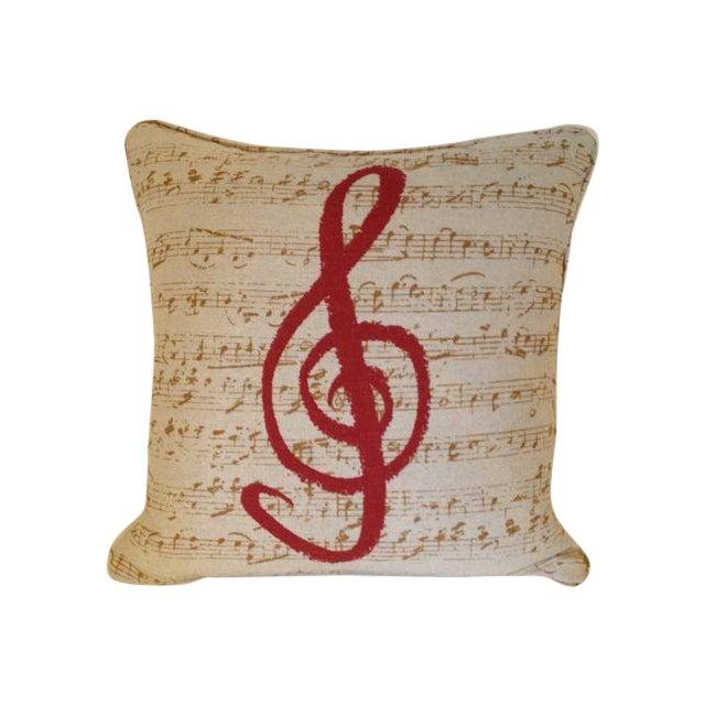 Custom Music Clef Pillow - Image 1 of 5