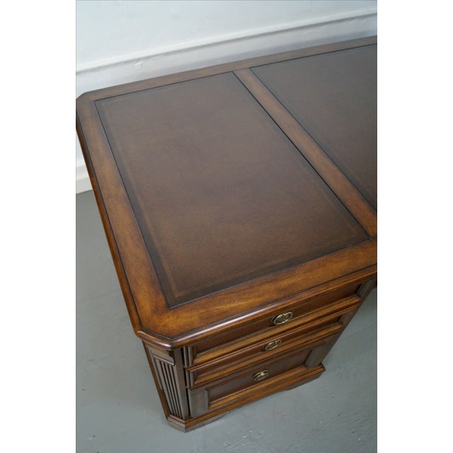 Hooker Leather Top Executive Desk - Image 10 of 10
