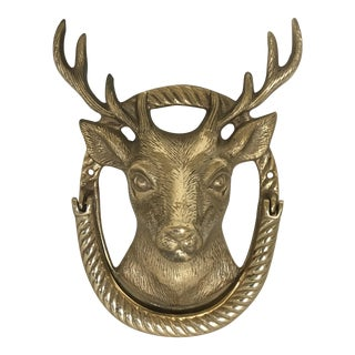 Mid Century Stags Head Door Knocker