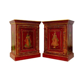 Vintage Indian Night Stands - A Pair