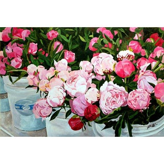 """Peonies at the Market"" Giclee Print"