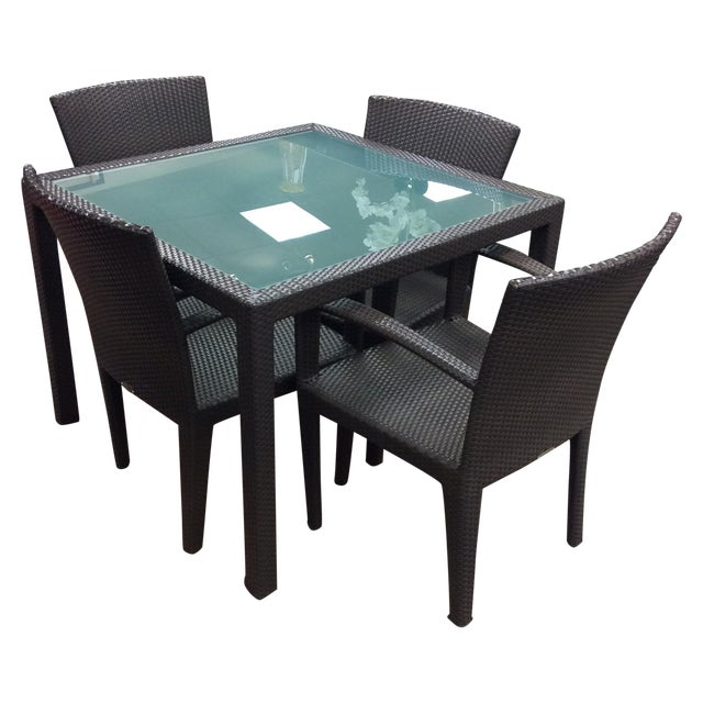 Dedon Outdoor Dining Set - Image 1 of 7