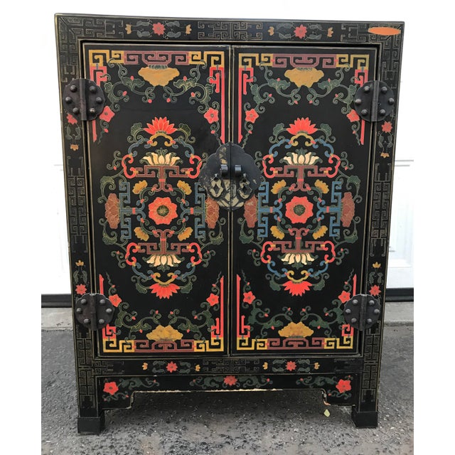 Hand Painted Chinoiserie Cabinet - Image 10 of 10