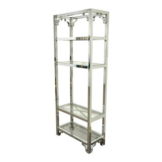 Chrome & Glass Etagere Bookcase