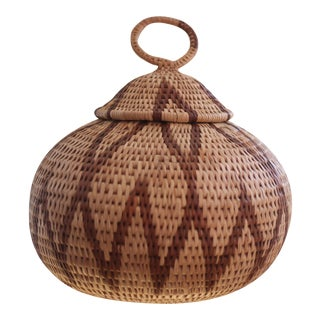 Handmade African Grass Basket