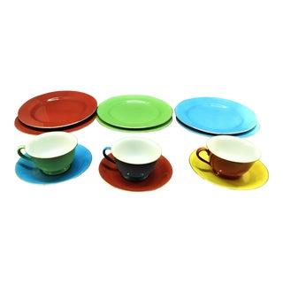 Noritake Colorware. Vintage Noritake China. Rare Noritake Dish Set -12 Pieces